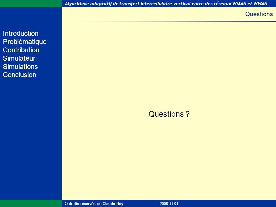 Questions Questions © droits réservés de Claude Roy 2006.11.01