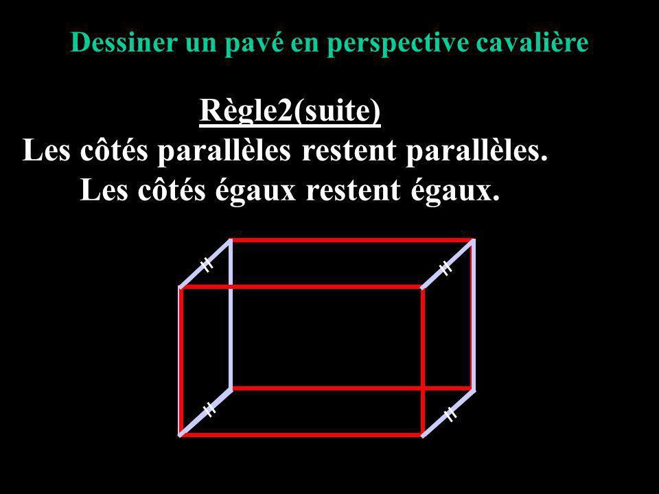 Les côtés parallèles restent parallèles.