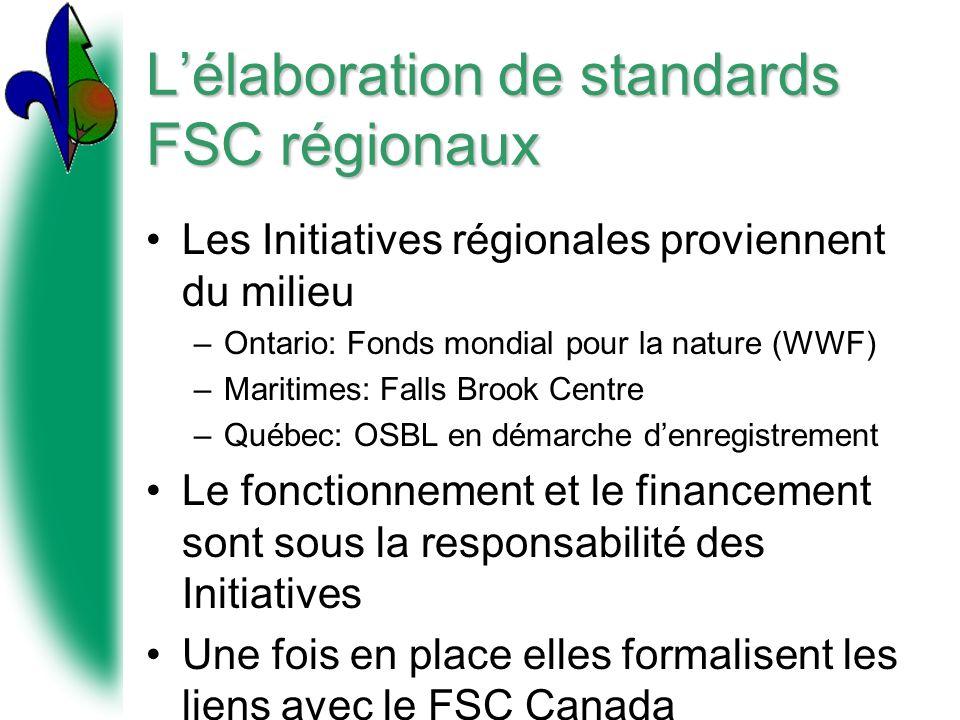 L'élaboration de standards FSC régionaux