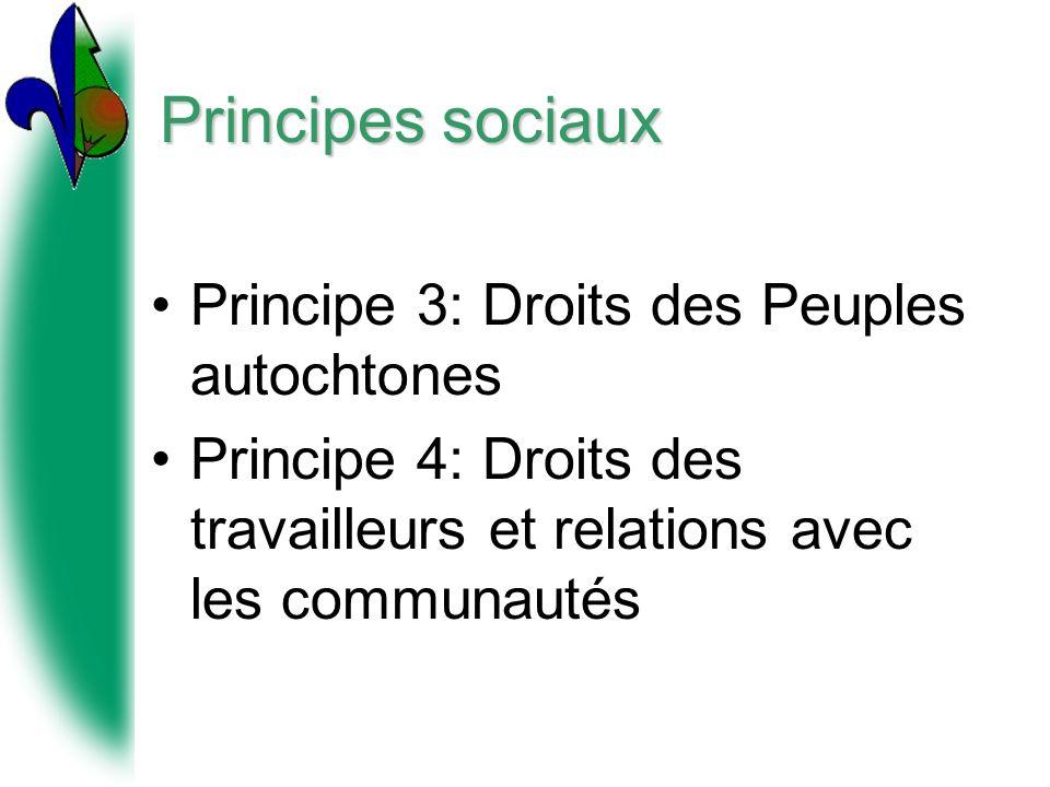 Principes sociaux Principe 3: Droits des Peuples autochtones
