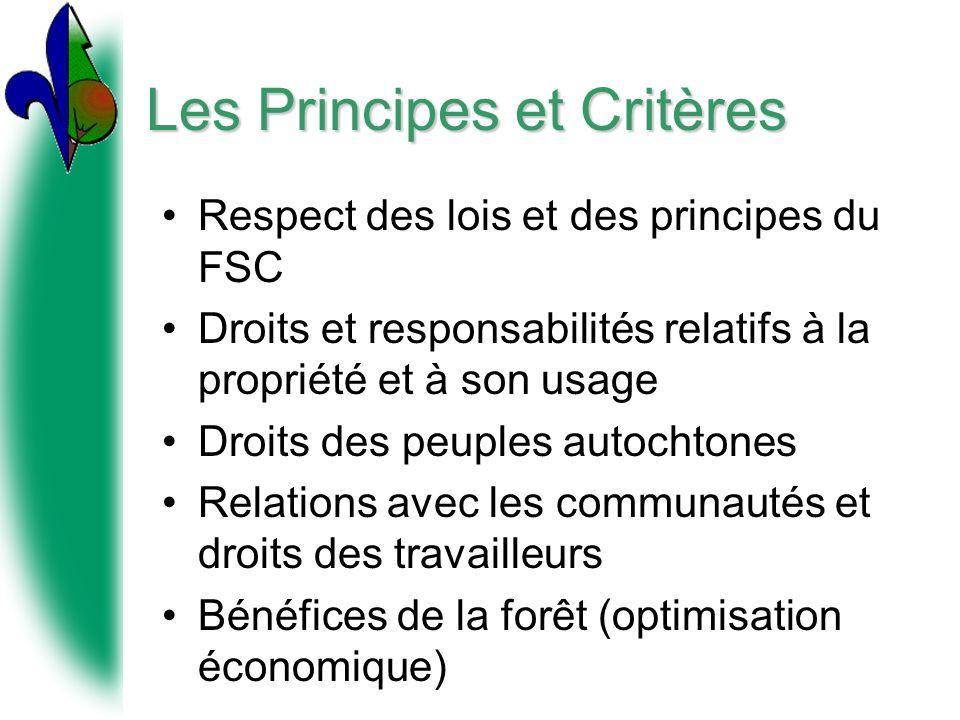 Les Principes et Critères