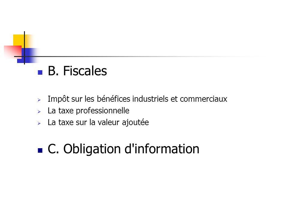 C. Obligation d information