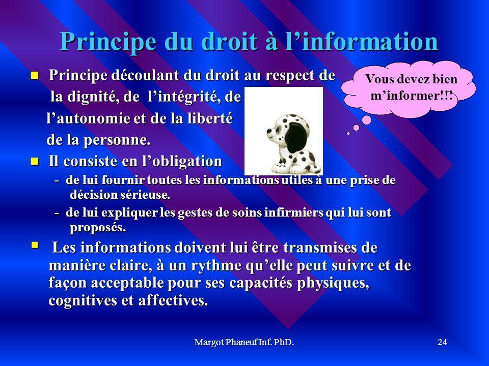 Principe du droit à l'information