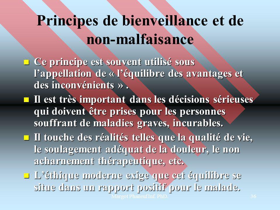 Principes de bienveillance et de non-malfaisance