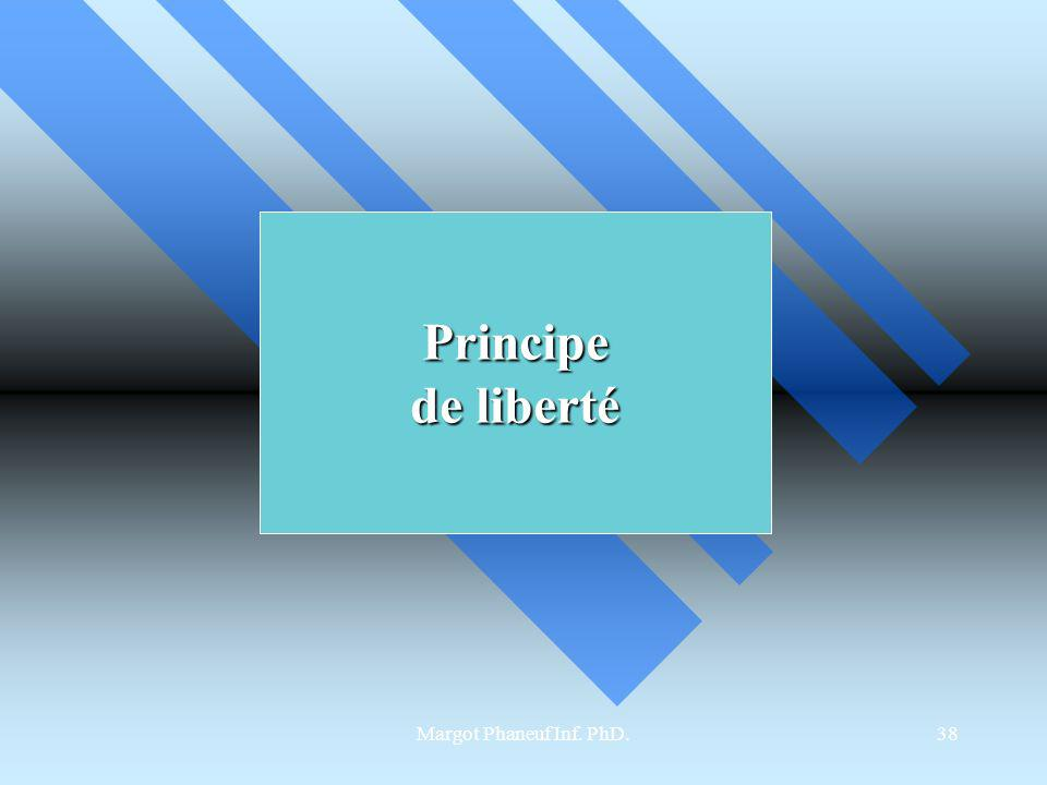 Principe de liberté Margot Phaneuf Inf. PhD.