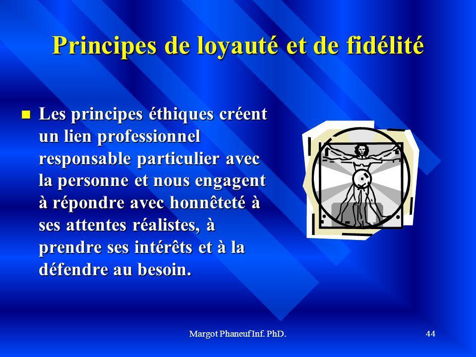 Principes de loyauté et de fidélité