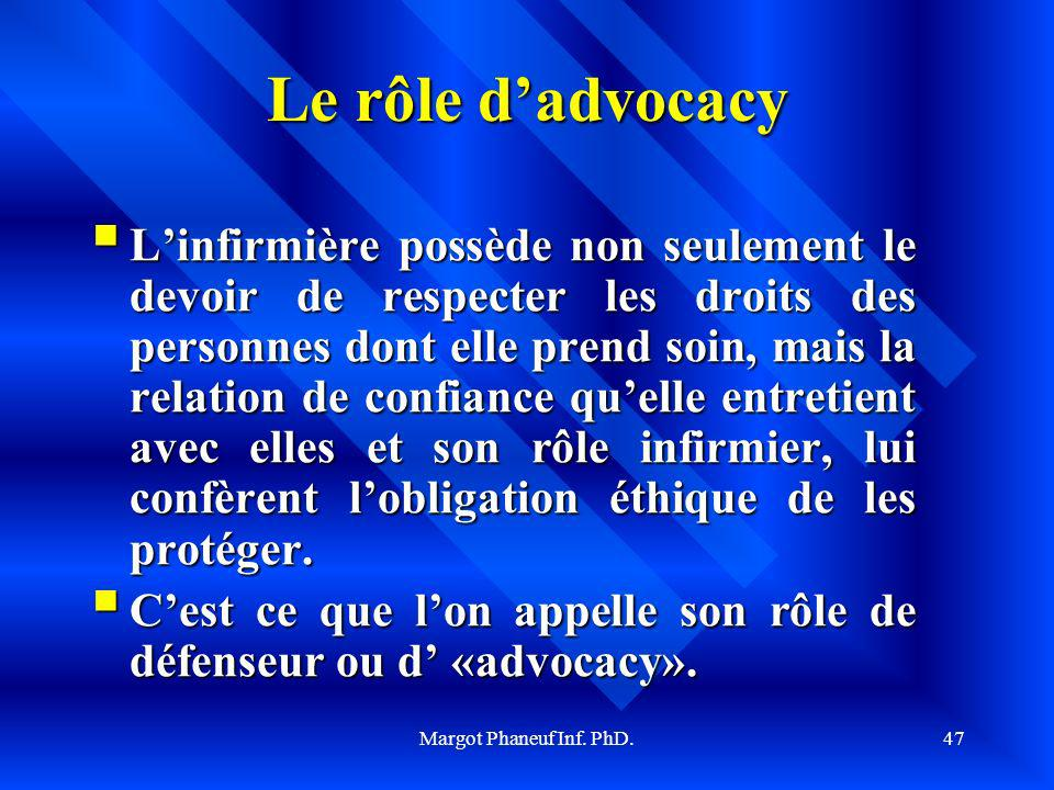 Le rôle d'advocacy