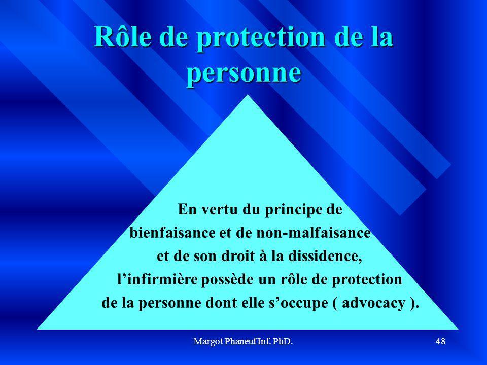 Rôle de protection de la personne
