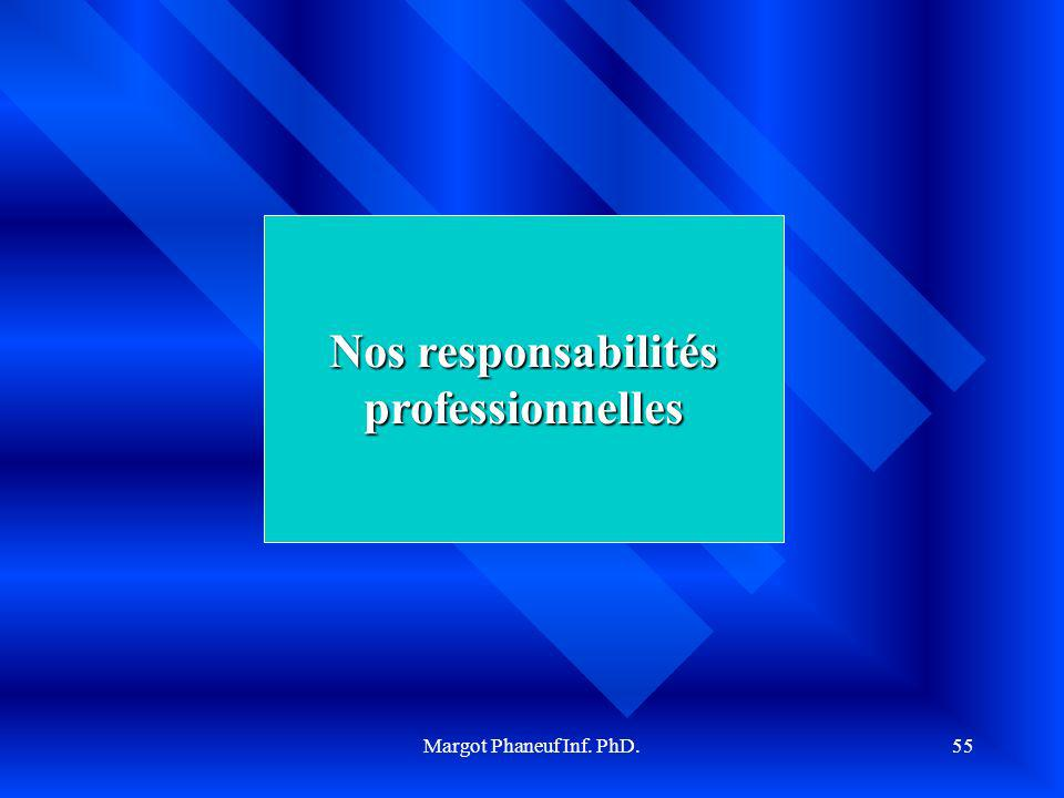 Nos responsabilités professionnelles