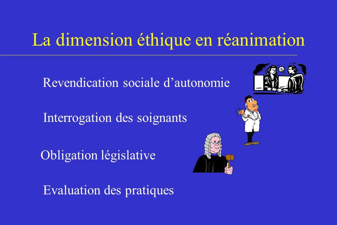 La dimension éthique en réanimation