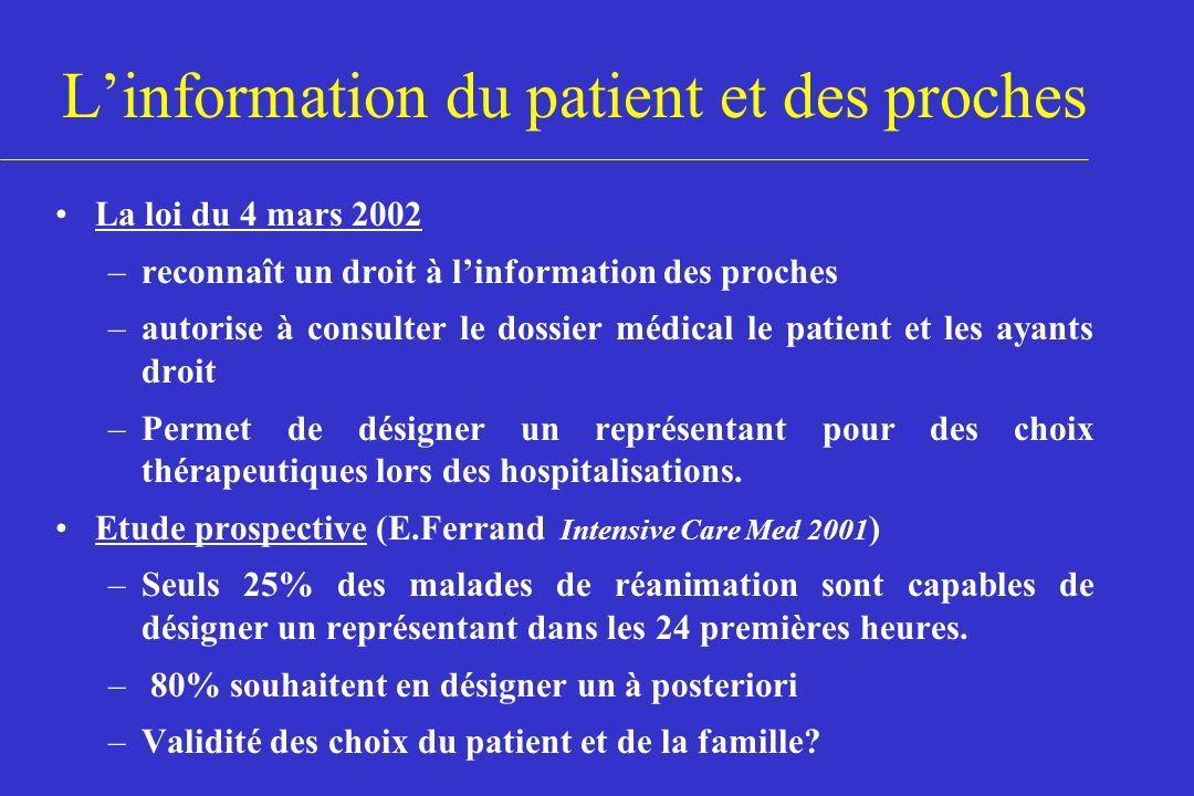 L'information du patient et des proches