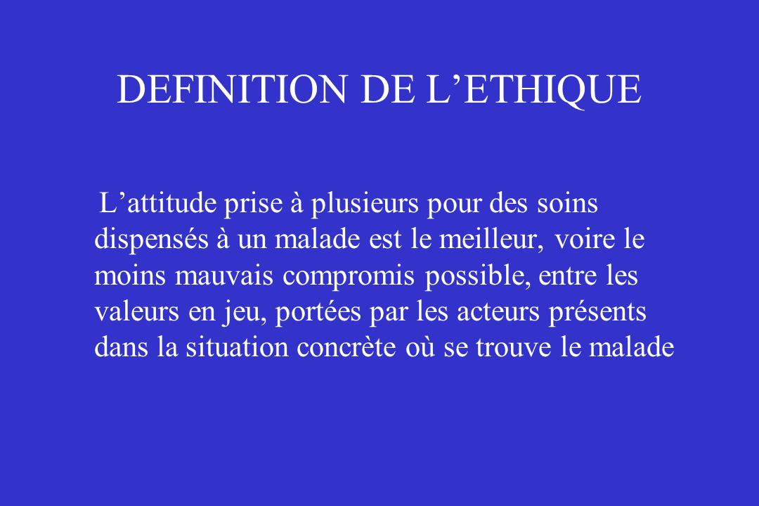 Probl mes thiques en r animation ppt t l charger for Definition de l