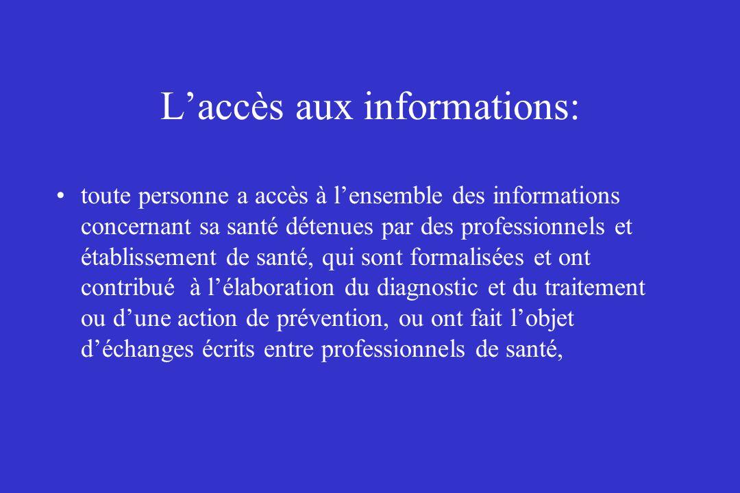 L'accès aux informations:
