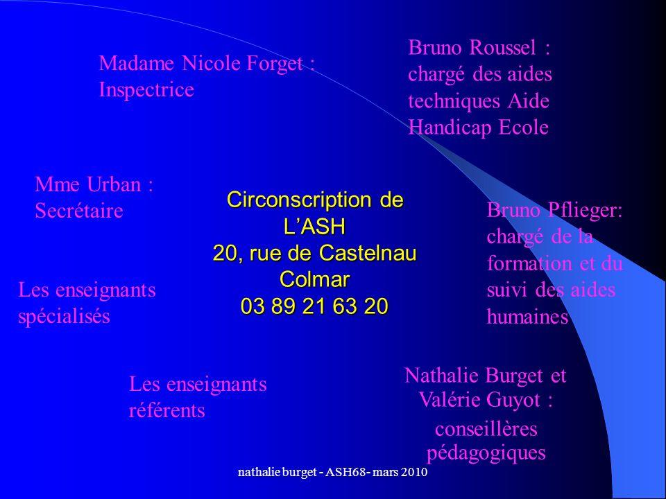 Circonscription de L'ASH 20, rue de Castelnau Colmar 03 89 21 63 20