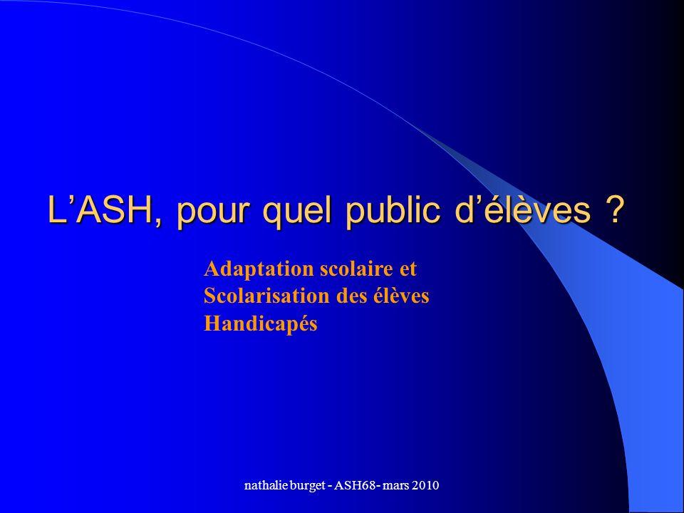 L'ASH, pour quel public d'élèves