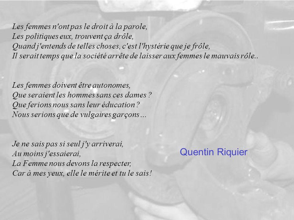 Quentin Riquier Les femmes n ont pas le droit à la parole,