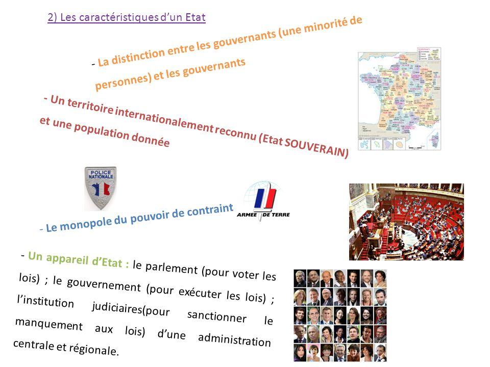 2) Les caractéristiques d'un Etat