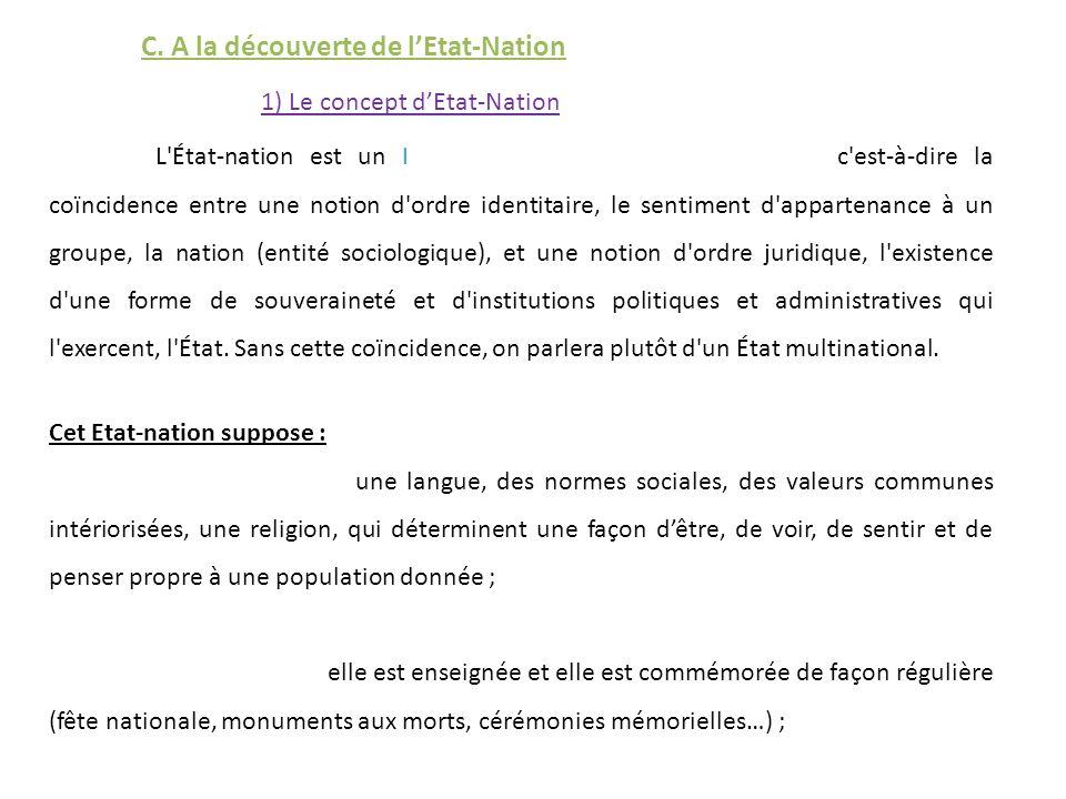 C. A la découverte de l'Etat-Nation