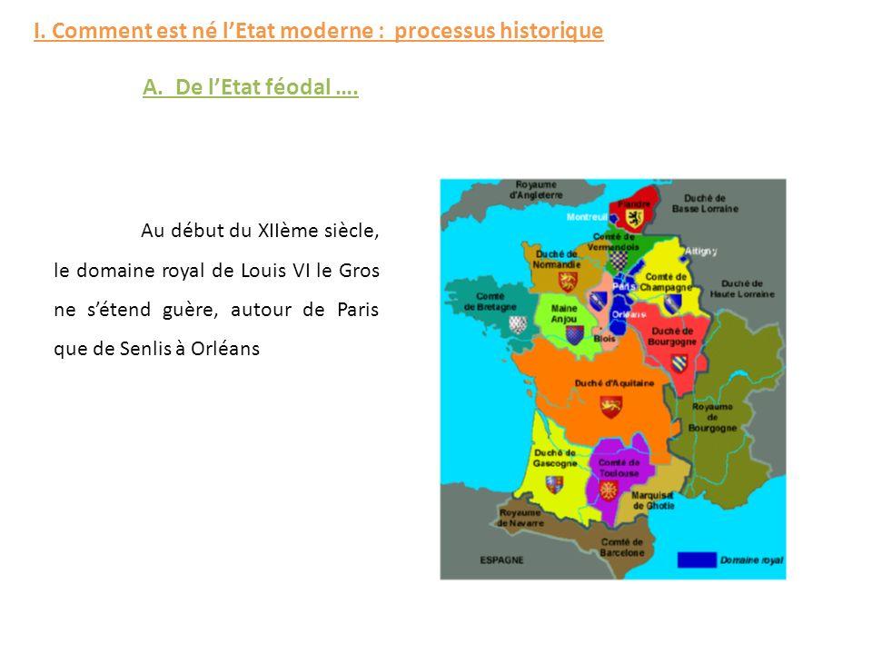 I. Comment est né l'Etat moderne : processus historique