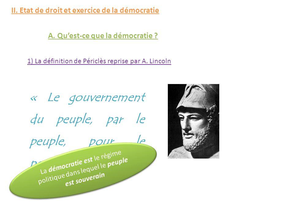 « Le gouvernement du peuple, par le peuple, pour le peuple »