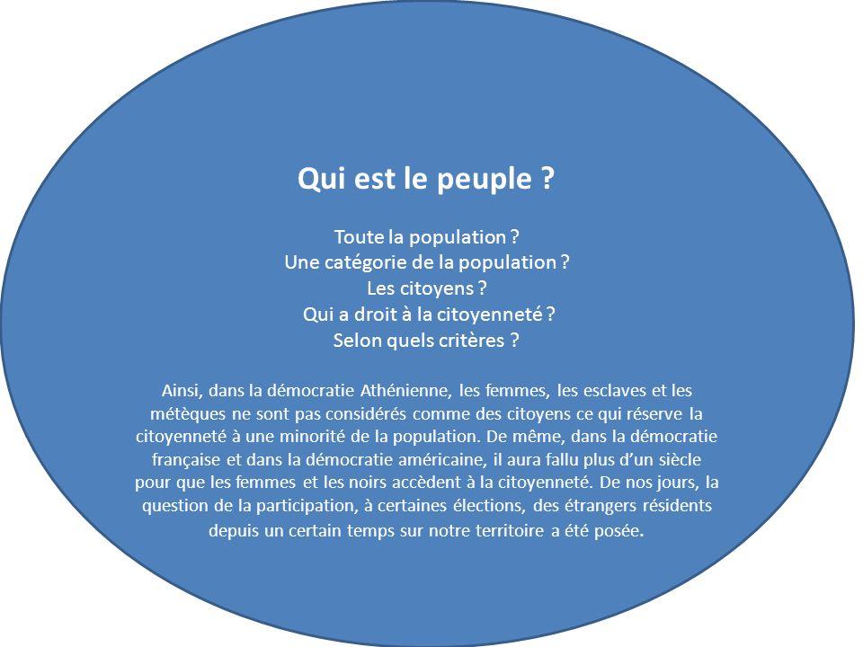 Qui est le peuple Toute la population