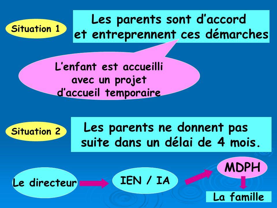 Les parents sont d'accord et entreprennent ces démarches