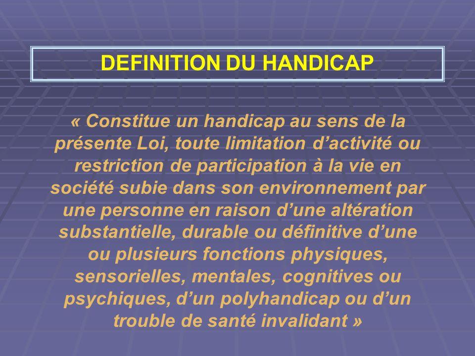 DEFINITION DU HANDICAP