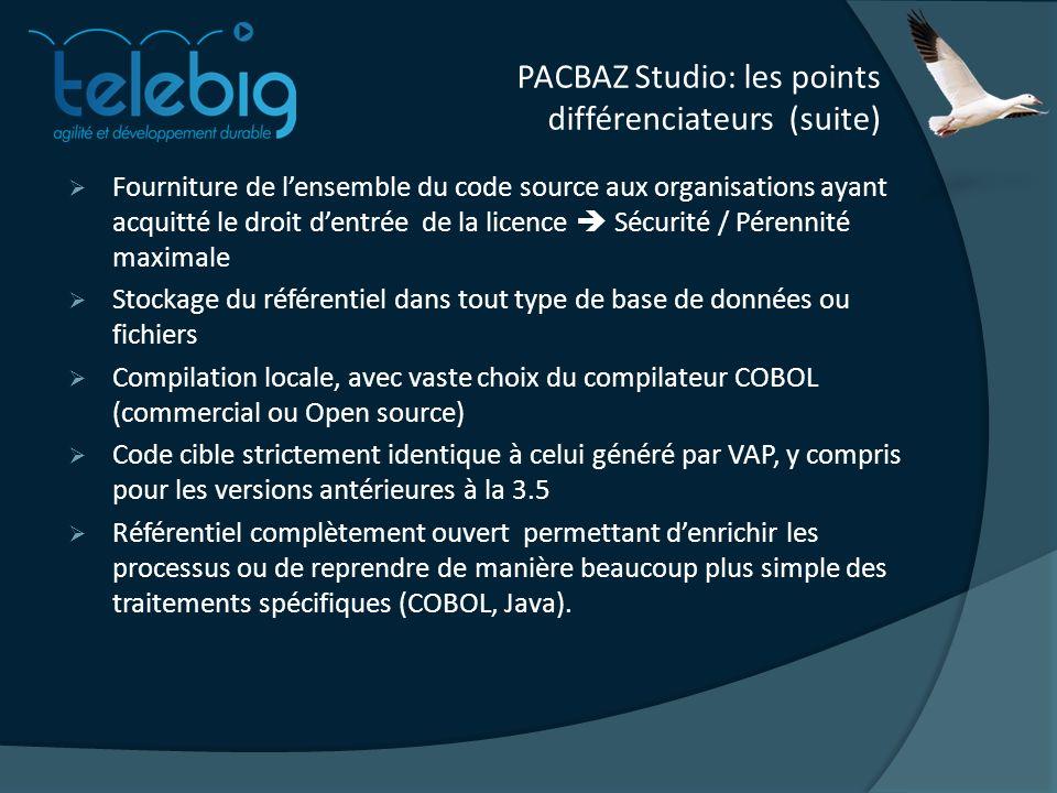 PACBAZ Studio: les points différenciateurs (suite)