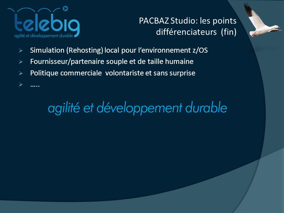 PACBAZ Studio: les points différenciateurs (fin)