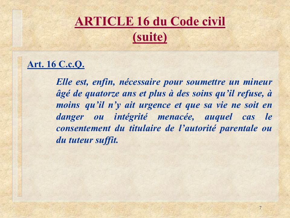 ARTICLE 16 du Code civil (suite)