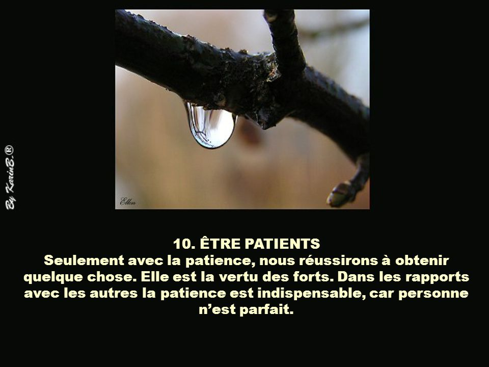 10. ÊTRE PATIENTS