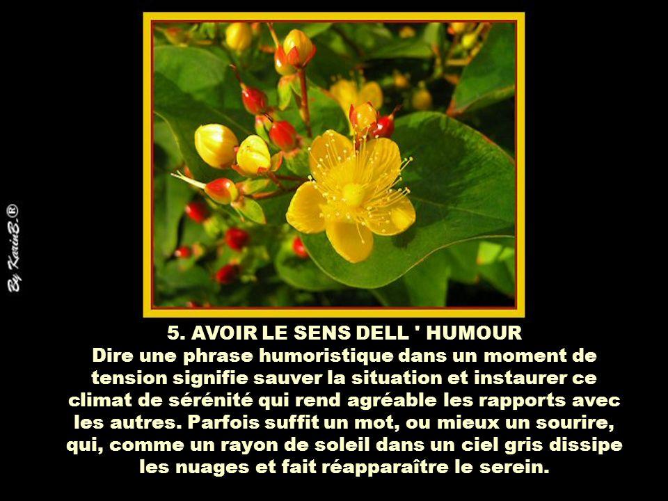 5. AVOIR LE SENS DELL HUMOUR