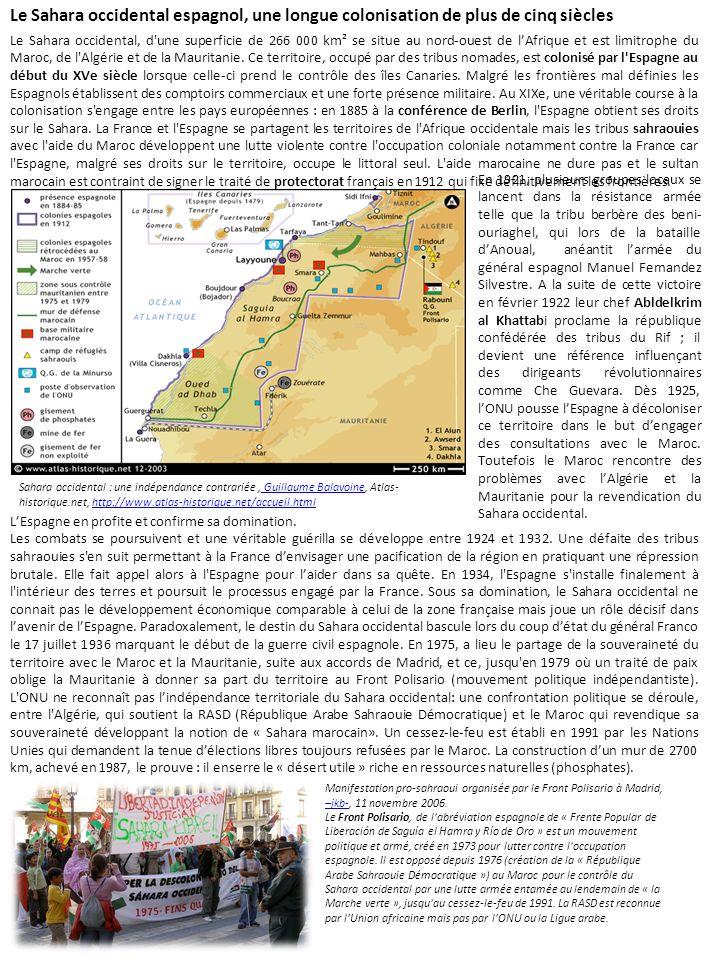 Le Sahara occidental espagnol, une longue colonisation de plus de cinq siècles
