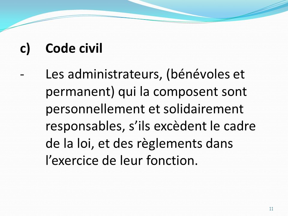 c) Code civil