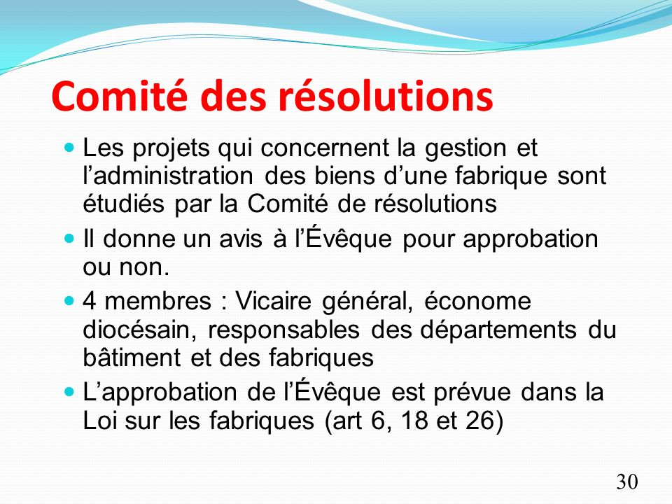 Comité des résolutions