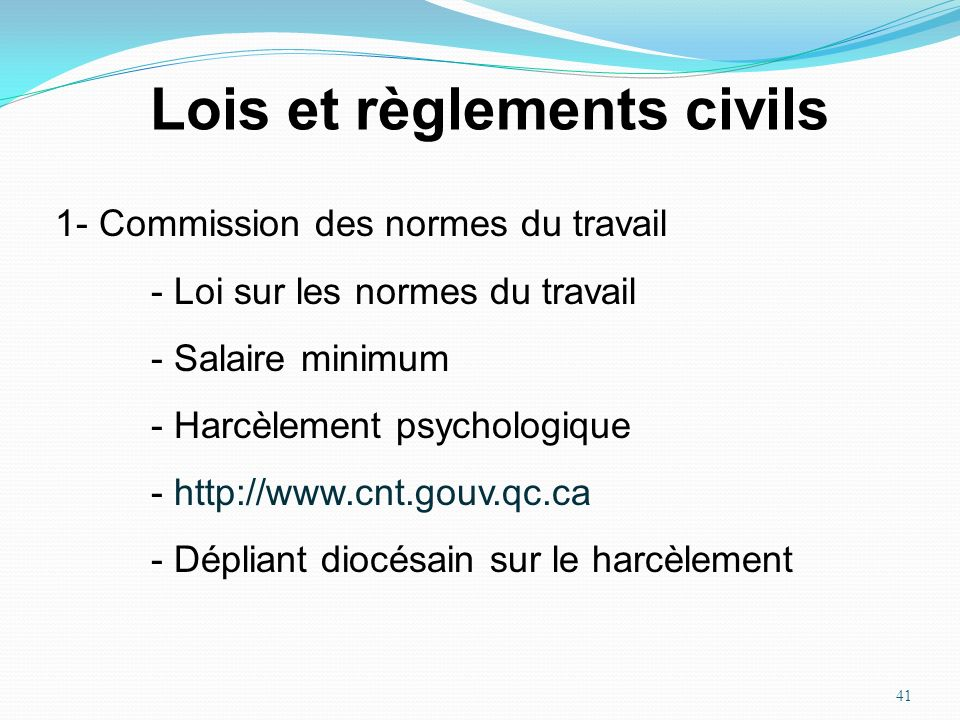 Lois et règlements civils