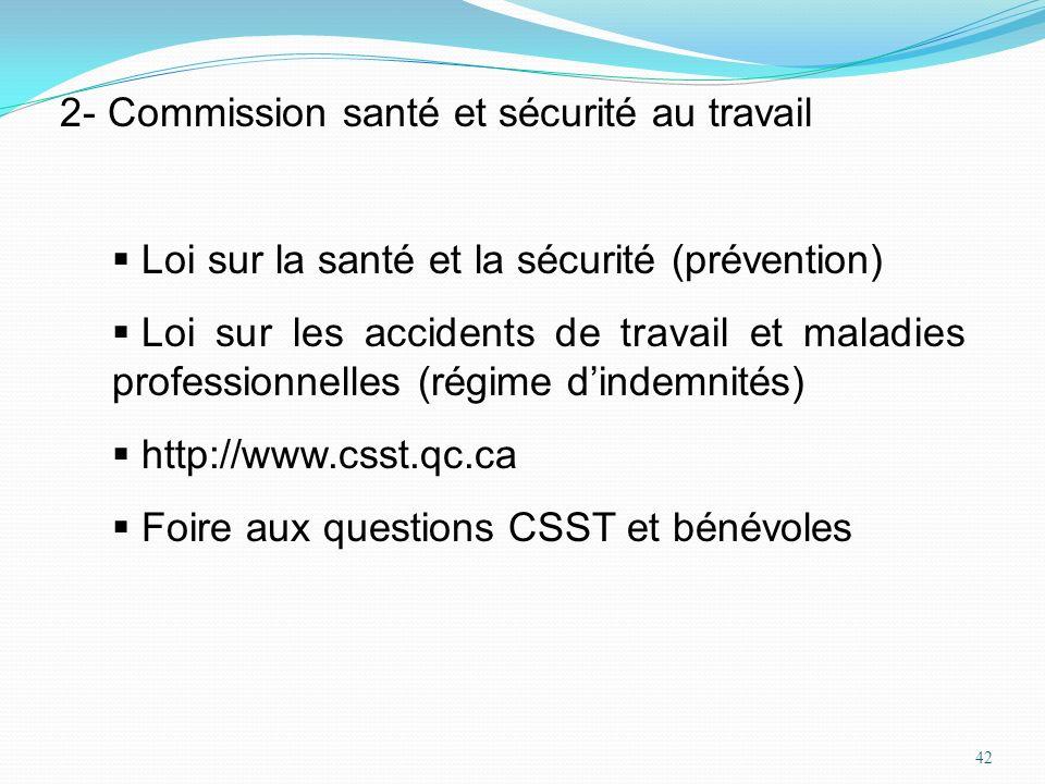 2- Commission santé et sécurité au travail