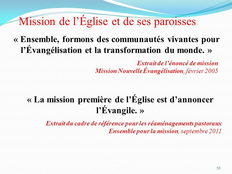 « La mission première de l'Église est d'annoncer l'Évangile. »