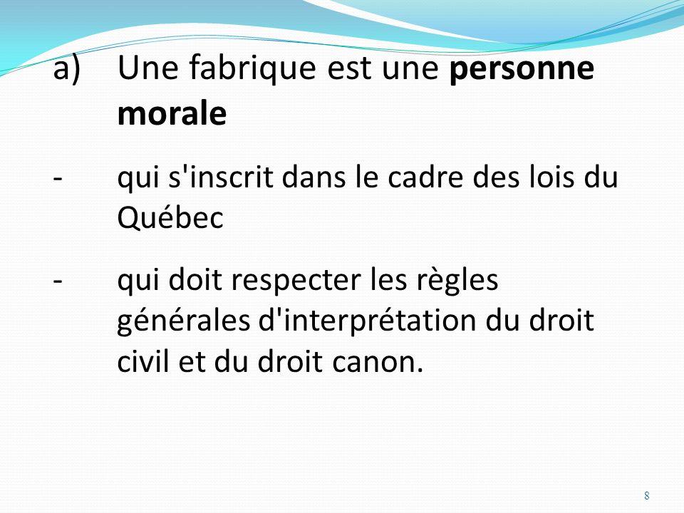 Une fabrique est une personne morale