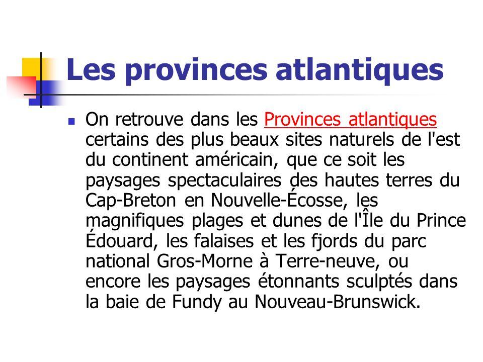 Les provinces atlantiques