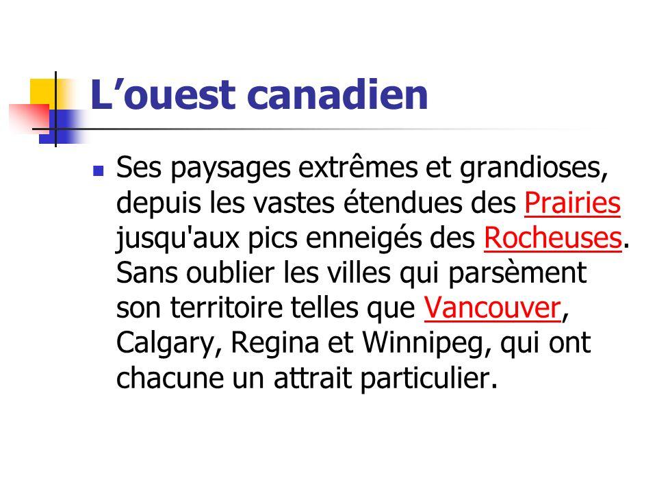 L'ouest canadien