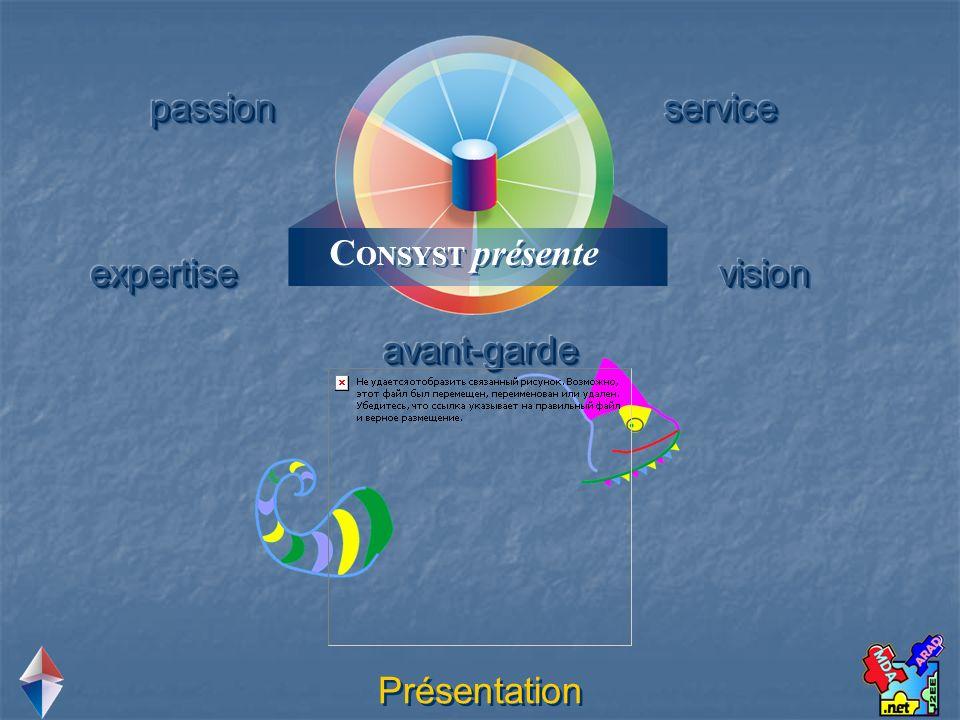 CONSYST présente passion service expertise vision avant-garde Présentation