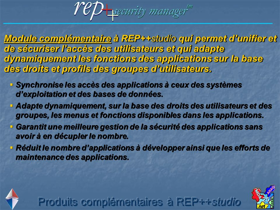 Produits complémentaires à REP++studio