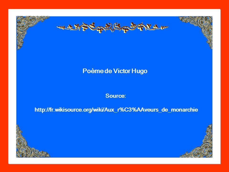 Poème de Victor Hugo Source: