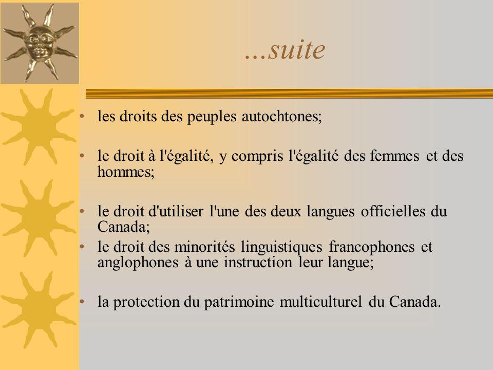 …suite les droits des peuples autochtones;