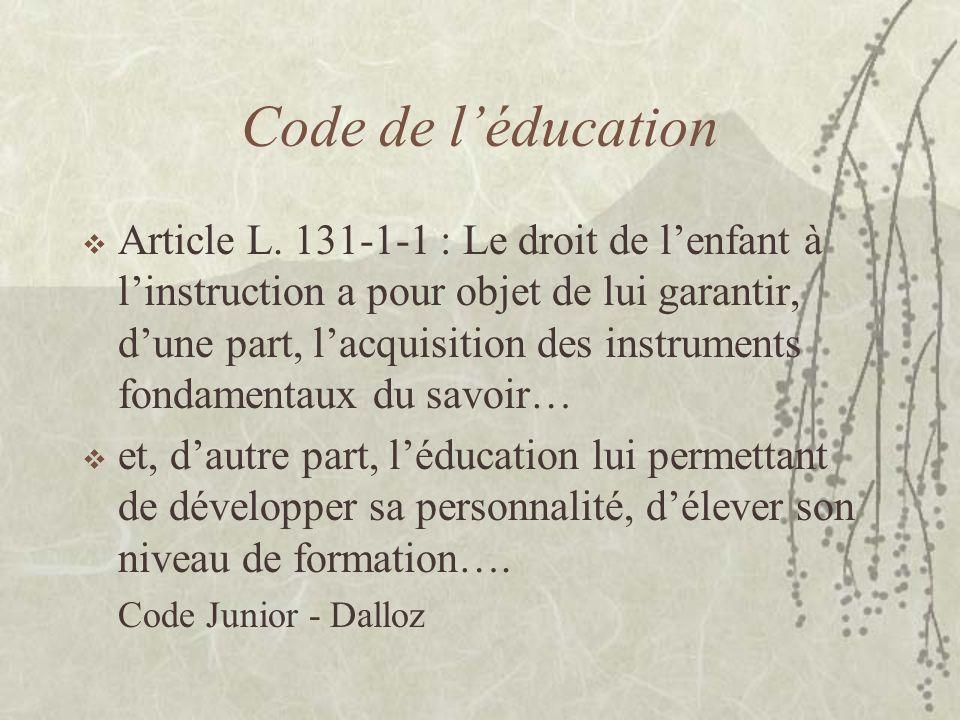 Code de l'éducation