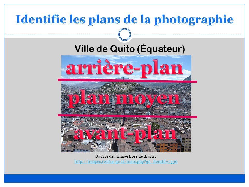 Identifie les plans de la photographie