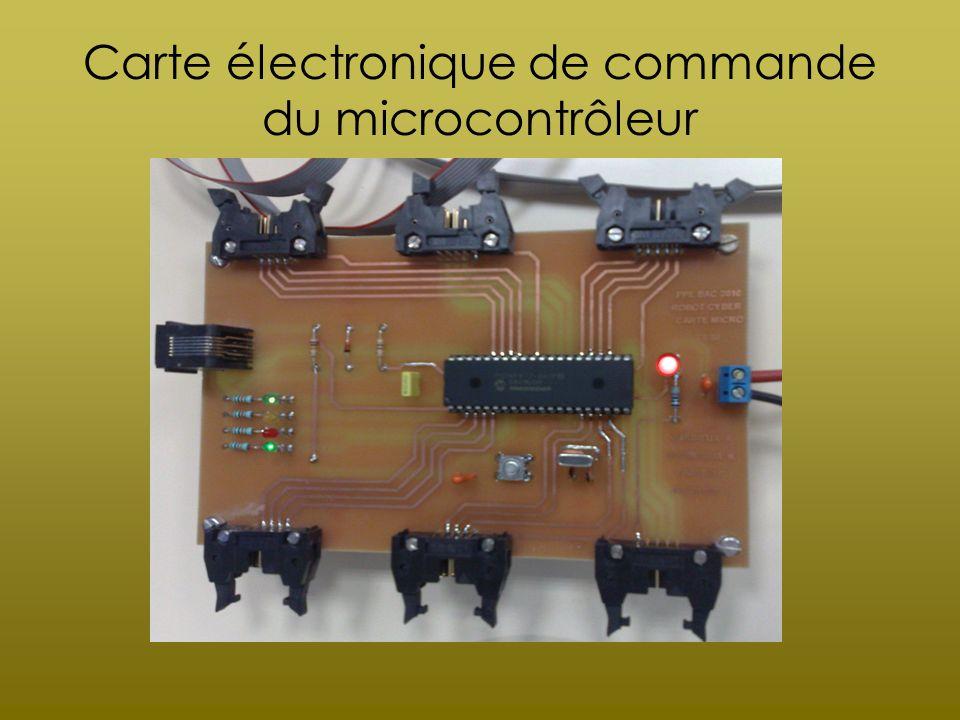 Carte électronique de commande du microcontrôleur