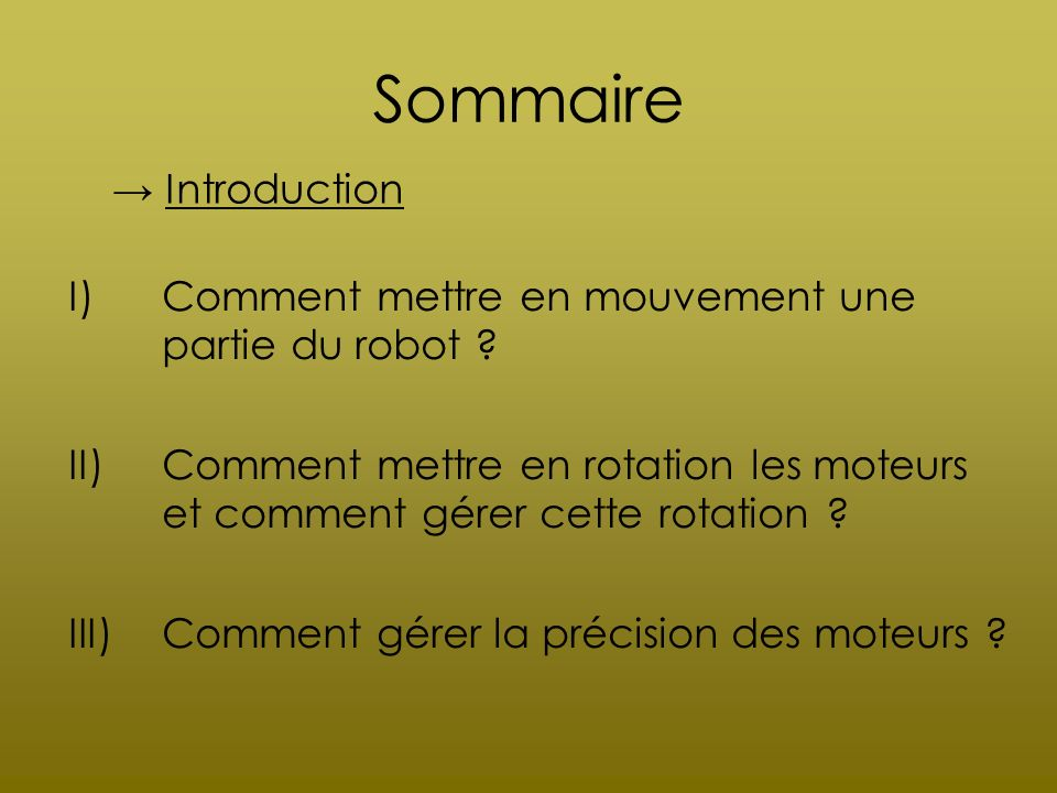 Sommaire → Introduction