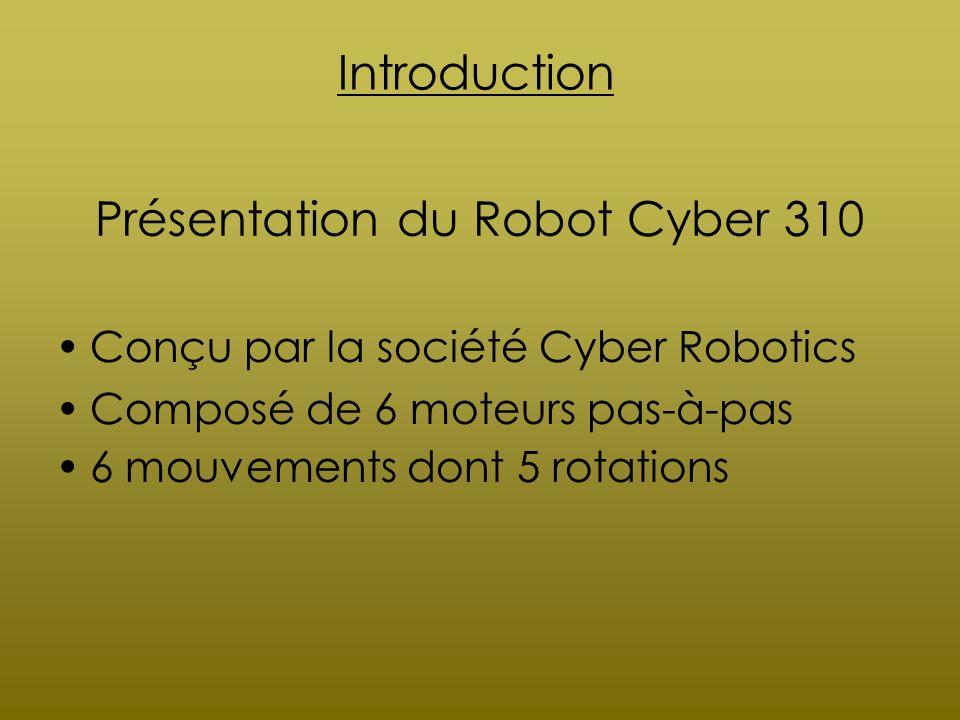 Présentation du Robot Cyber 310